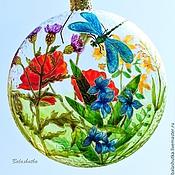 """Подарки к праздникам ручной работы. Ярмарка Мастеров - ручная работа Елочный шар """"Летняя лужайка"""". Handmade."""
