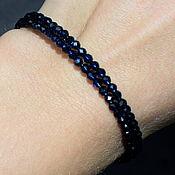 Украшения handmade. Livemaster - original item Sparkling Blue Natural Spinel Bracelet with Cut. Handmade.