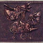 """Картины и панно ручной работы. Ярмарка Мастеров - ручная работа Стимпанк-панно """"Механический пеликан"""". Handmade."""