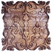 Сувениры и подарки handmade. Livemaster - original item Backgammon Gladiator, 60 x 60 cm, handmade.. Handmade.