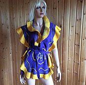 Одежда ручной работы. Ярмарка Мастеров - ручная работа Жилет трансформер шарф Амазонка декор. Handmade.
