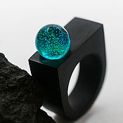 Украшения handmade. Livemaster - original item The author`s ring made of wood and resin