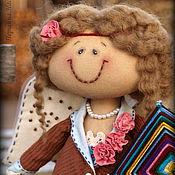 Куклы и игрушки ручной работы. Ярмарка Мастеров - ручная работа Фея рукодельница Аделина. Кофейная Ароматизированная Кукла. Handmade.