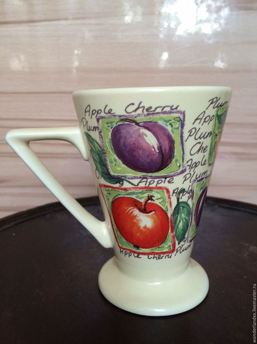 Кружки и чашки ручной работы. Ярмарка Мастеров - ручная работа. Купить Фруктовый бокал от Churchill, Англия, конец 90х. Handmade.