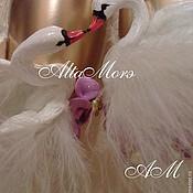 """Свадебный салон ручной работы. Ярмарка Мастеров - ручная работа Бокалы свадебные """"Лебеди в золотом"""". Handmade."""