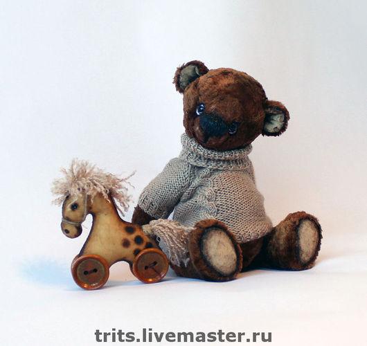 Мишки Тедди ручной работы. Ярмарка Мастеров - ручная работа. Купить Антошка и лошадка. Handmade. Мишка, друзья мишек тедди