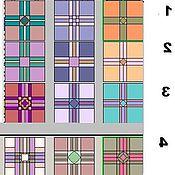 Дизайн и реклама ручной работы. Ярмарка Мастеров - ручная работа 2-F Блок схема квадратов ВСЕ схем. Handmade.