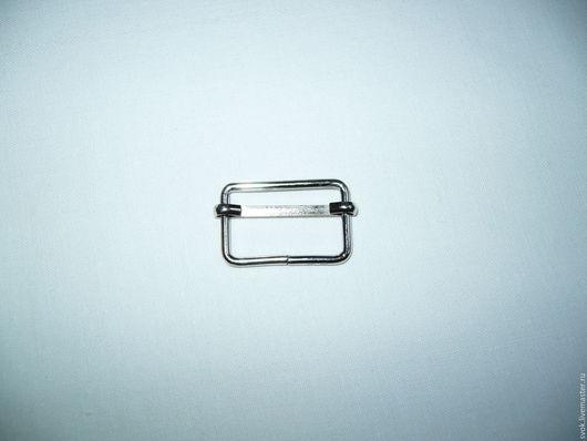 Шитье ручной работы. Ярмарка Мастеров - ручная работа. Купить Пряжка регулирующая, 25 мм, цвет никель, регулятор длины. Handmade.