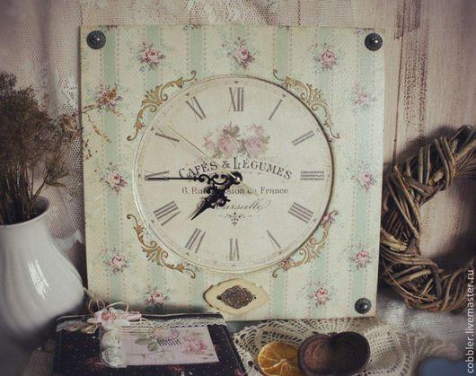 """Часы для дома ручной работы. Ярмарка Мастеров - ручная работа. Купить Часы винтаж """"Cafes"""". Handmade. Подарок, винтажные, циферблаты"""