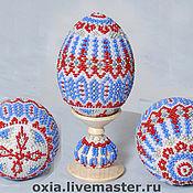 Подарки к праздникам ручной работы. Ярмарка Мастеров - ручная работа Яйцо пасхальное бисерное. Handmade.