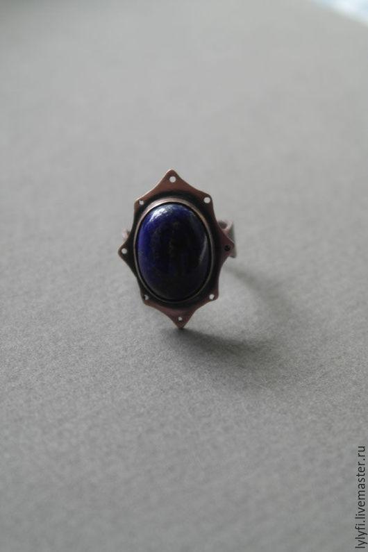 """Кольца ручной работы. Ярмарка Мастеров - ручная работа. Купить кольцо """"Тысяча и одна ночь"""". Handmade. Тёмно-синий"""