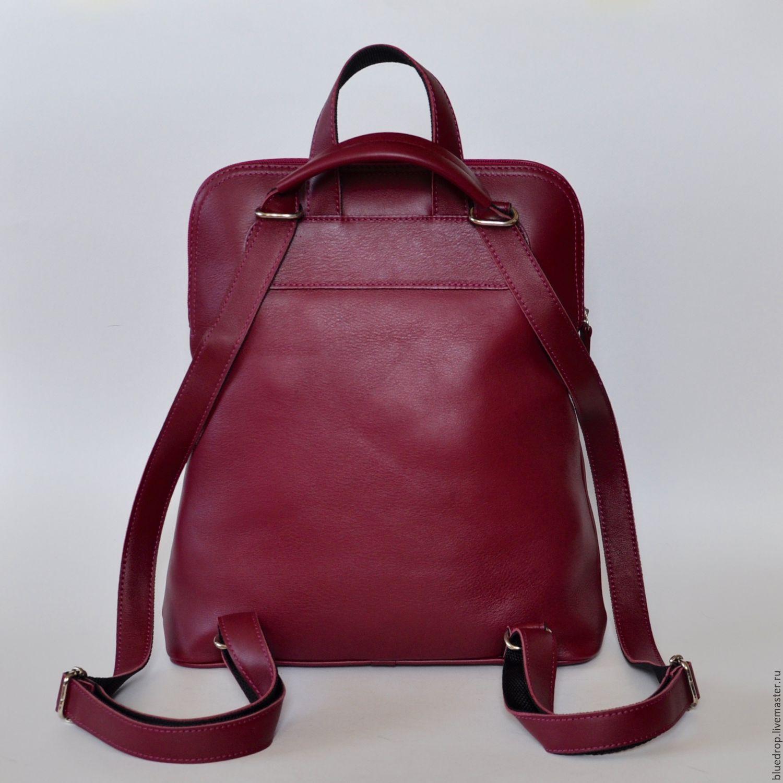 Женская сумка-рюкзак кожа ковер на рюкзак