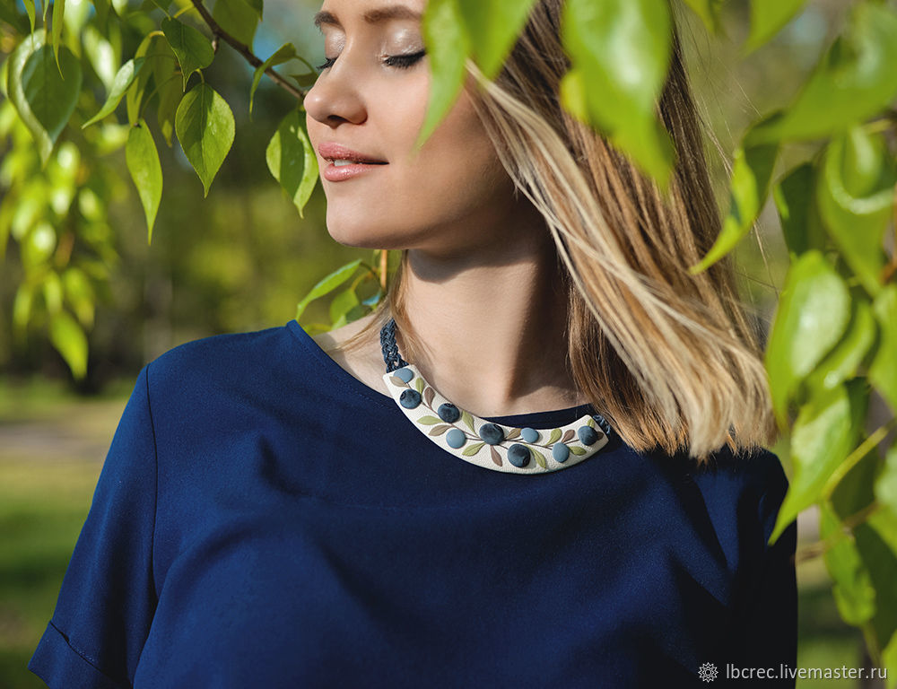 Necklace 'Blueberry', Necklace, Barnaul,  Фото №1