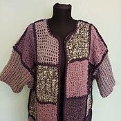 Одежда handmade. Livemaster - original item Coat knitted lilac. Handmade.