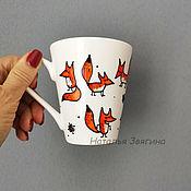 Посуда handmade. Livemaster - original item Mug for tea Chanterelles. Hand painted. Gift. Handmade.