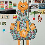 Для дома и интерьера ручной работы. Ярмарка Мастеров - ручная работа Пакетница - Кошка Розочка. Handmade.