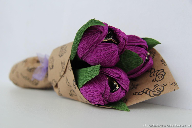 Букет из конфет Тюльпаны, Букеты, Москва,  Фото №1