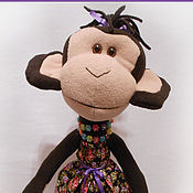 Куклы и игрушки ручной работы. Ярмарка Мастеров - ручная работа Обезьянка.Маура(черноглазая). Handmade.