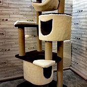 Домик для питомца ручной работы. Ярмарка Мастеров - ручная работа Комплекс для кошек номер 0015. Handmade.