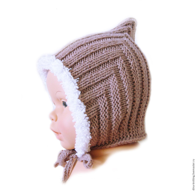Вязание спицами детской шапочки эльф