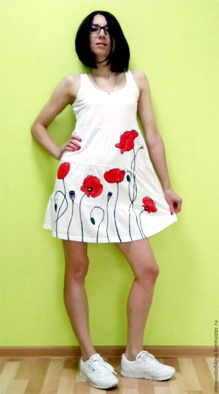 dress red poppies (painting), Dresses, Novocheboksarsk,  Фото №1