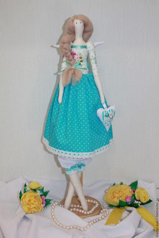 Куклы Тильды ручной работы. Ярмарка Мастеров - ручная работа. Купить Кукла в стиле Тильда. Handmade. Бирюзовый