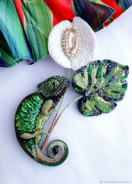 Set of brooches 'Tropics', Brooch set, Tver,  Фото №1