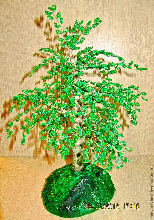 Деревья ручной работы. Ярмарка Мастеров - ручная работа. Купить Береза из бисера. Handmade. Бисер, украшение для интерьера, проволока