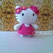 Куклы и игрушки ручной работы. Ярмарка Мастеров - ручная работа Hello Kitty амигуруми в розовом платье. Handmade.