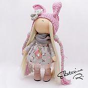"""Куклы и игрушки ручной работы. Ярмарка Мастеров - ручная работа Интерьерная текстильная кукла """"Розовый зайчик винтаж"""". Handmade."""