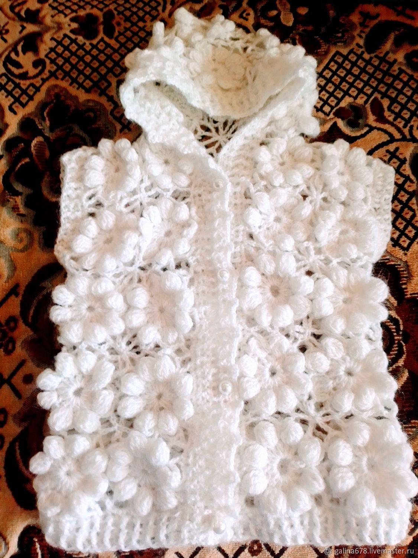 Одежда для девочек, ручной работы. Ярмарка Мастеров - ручная работа. Купить Жилетик. Handmade. Вязаный, акрил