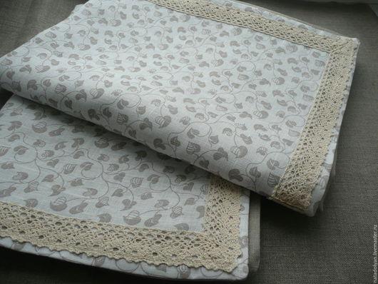 """Текстиль, ковры ручной работы. Ярмарка Мастеров - ручная работа. Купить Наволочки из 100% льна """"Бежевые листочки"""" 2 штуки. Handmade."""