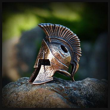 """Сувениры и подарки ручной работы. Ярмарка Мастеров - ручная работа Бусина """"Шлем 300"""" для темляков или браслетов (бронза). Handmade."""