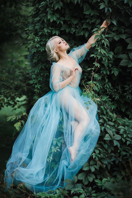 Будуарное платье «Паола», бирюзово-голубое, Платья, Москва,  Фото №1