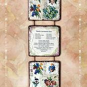 Картины и панно ручной работы. Ярмарка Мастеров - ручная работа Триптих. Цветочные. 2 вида. Handmade.