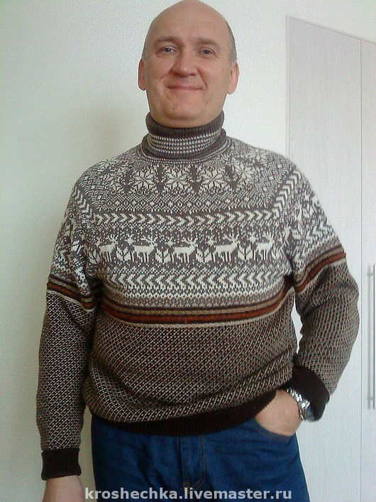 For Men handmade. Livemaster - handmade. Buy Wool knitted sweater 'Norwegian'.Sweater, spiritual things, warm clothes, Norwegian