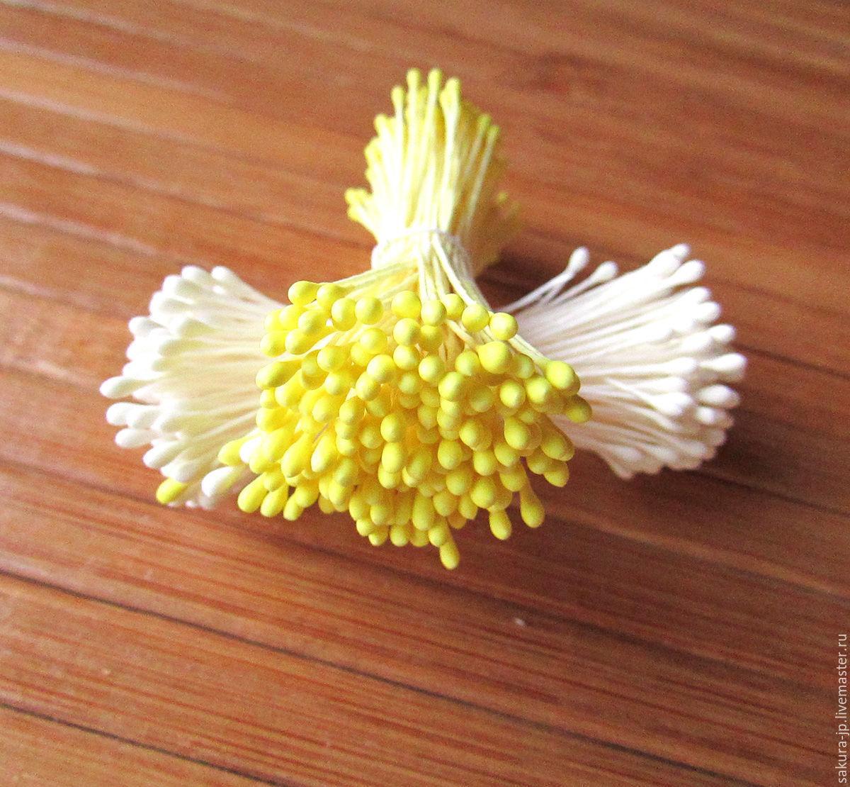 Japanese stamens Small, balls. ` SAKURA` - materials for citadele. Fair Masters.