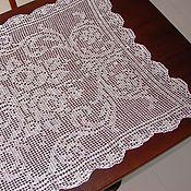 Для дома и интерьера ручной работы. Ярмарка Мастеров - ручная работа Скатерть вязаная льняная. Handmade.