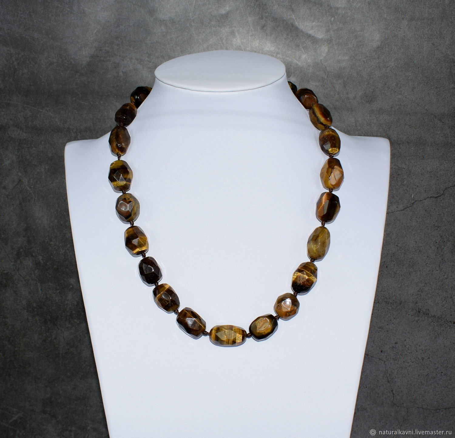 Tiger's eye stone beads with cut, Beads2, Moscow,  Фото №1