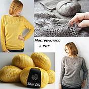 Материалы для творчества handmade. Livemaster - original item Master class on knitting pullover November. Handmade.