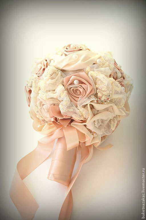Свадебные цветы ручной работы. Ярмарка Мастеров - ручная работа. Купить Букет Рококо. Handmade. Бежевый, невеста, букет на заказ