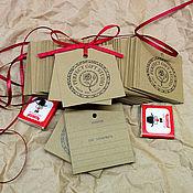 Дизайн и реклама ручной работы. Ярмарка Мастеров - ручная работа Бирки на крафт-бумаге дизайнерской. Handmade.