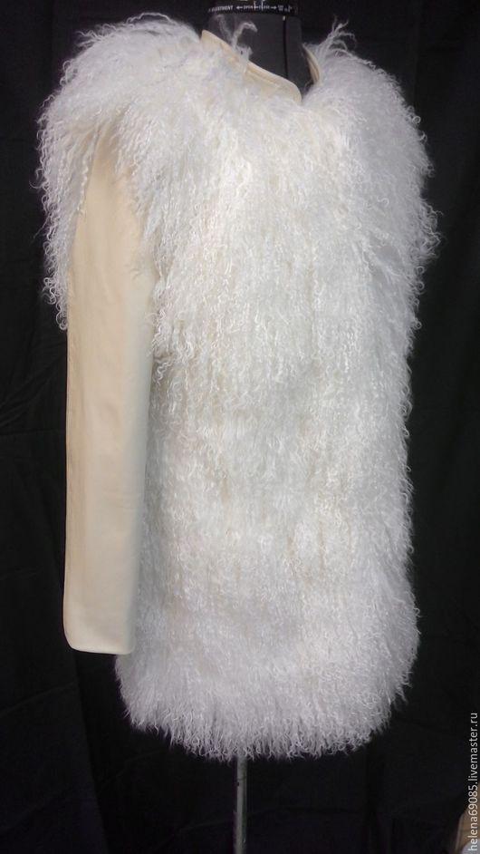 Верхняя одежда ручной работы. Ярмарка Мастеров - ручная работа. Купить Шубка из ламы. Handmade. Белый, шубка из ламы, шуба