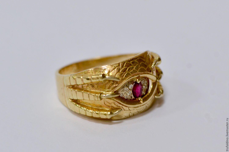 Унисекс золотой перстень кольцо