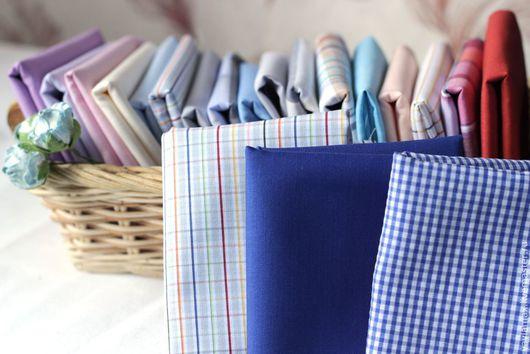 Шитье ручной работы. Ярмарка Мастеров - ручная работа. Купить Набор тканей Синий. Handmade. Ткань для рукоделия, ткань