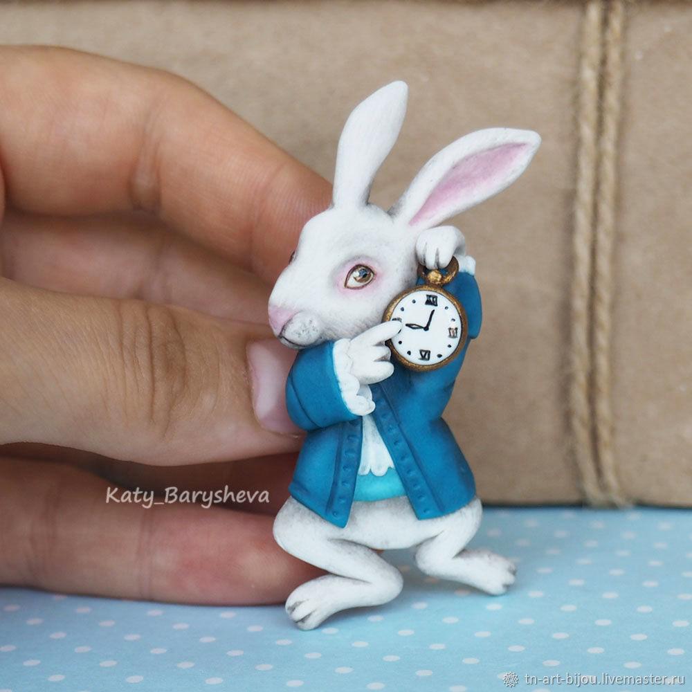 White rabbit brooch from Alice in Wonderland', Brooches, Sochi,  Фото №1