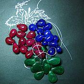 Бусины ручной работы. Ярмарка Мастеров - ручная работа Бусины рубин, сапфир, изумруд натуральный, капля. Handmade.
