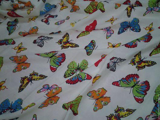 """Шитье ручной работы. Ярмарка Мастеров - ручная работа. Купить Вискоза плательная """"Коллекция бабочек"""". Handmade. Комбинированный, ткань для одежды"""