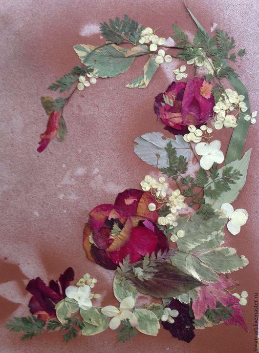Картина-ошибана Розы в бордо