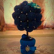 """Цветы и флористика ручной работы. Ярмарка Мастеров - ручная работа Дерево счастья """"Синее небо"""". Handmade."""